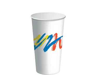 16oz Paper Cold Cups with Carnivale design