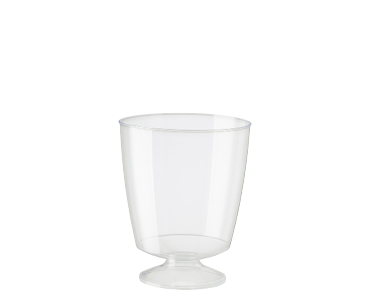 Elegance® Clear Plastic Wine Glass & Tasters Cup (185ml)