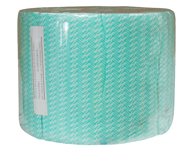 Heavy Duty Reusable Wipes Non Perforated Roll (Green)