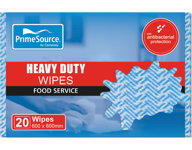 Heavy Duty Pack Reusable Food Service Wipes (Blue)