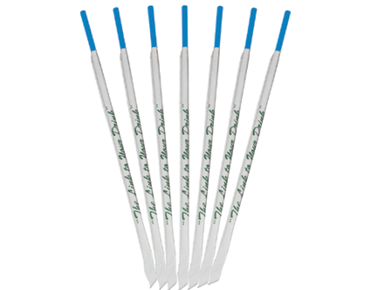 Regular Drinking Straws, Blue Individually Wrapped