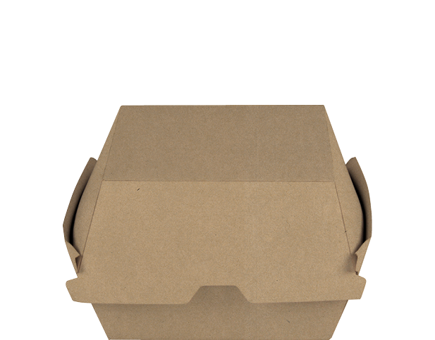 Brown Kraft Burger Clams Paper Containers (Large)