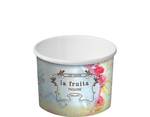 Super Ice Cream & Gelato Cups (1 Scoop 4 oz) | Round Paper Containers  XM39