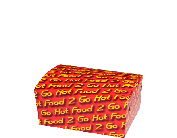Hot Food 2 Go Snack Boxes Paper Takeaway Containers