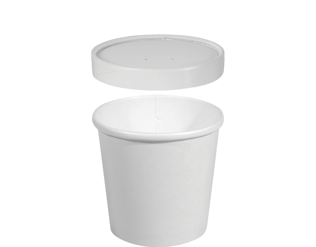 Hot or CoHeavy Weight Paper Round Food Containers (Medium)