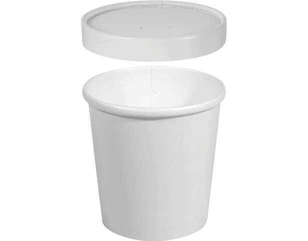 Heavy Weight Paper Round Food Containers Large