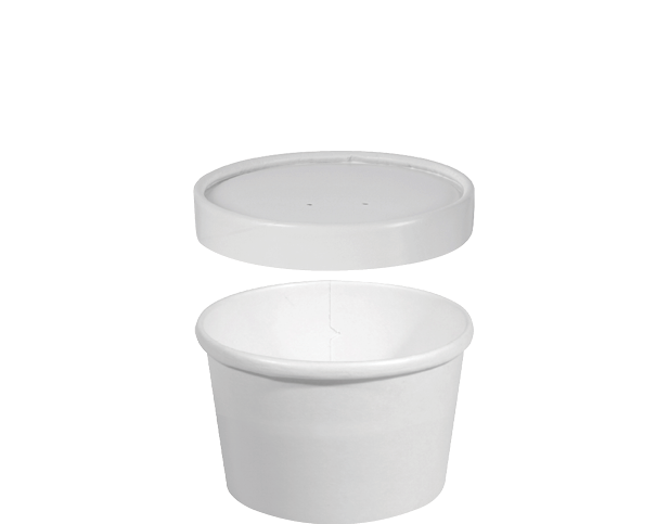 Heavy Weight Paper Round Food Containers (Small)