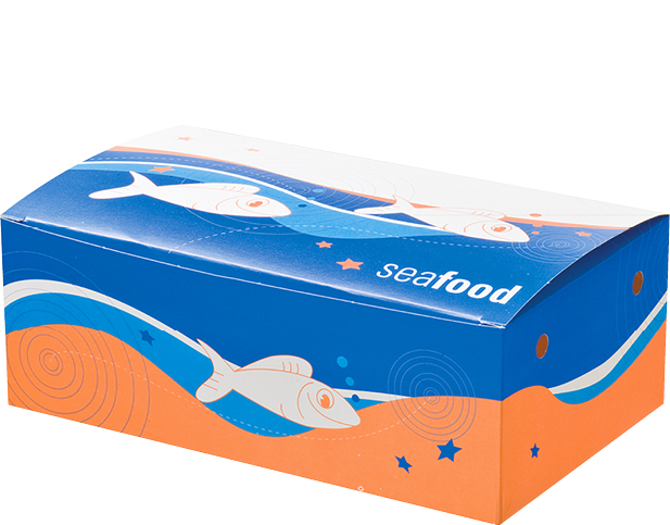 Seafood Snack Boxes (Large) | Paper Food Containers