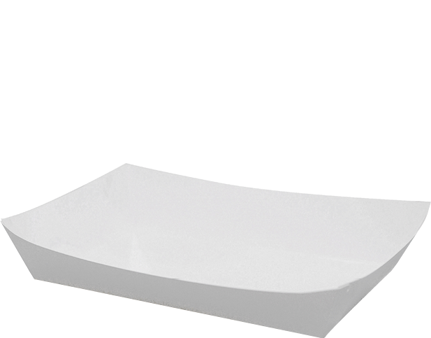 Folding White Paper Seafood Trays (Large)