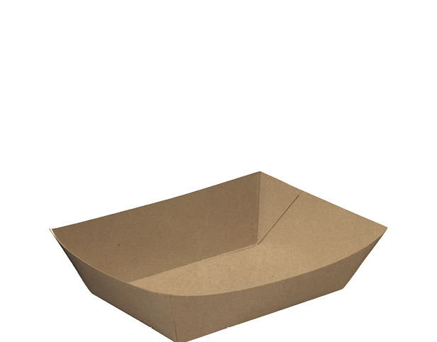 Rediserve Brown Kraft Paper Food Trays #2 Small