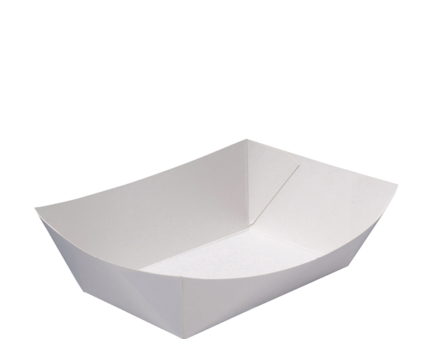 Rediserve White Paper Food Trays #3 Medium