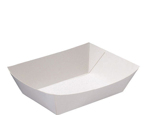 Rediserve White Paper Food Trays #4 Large