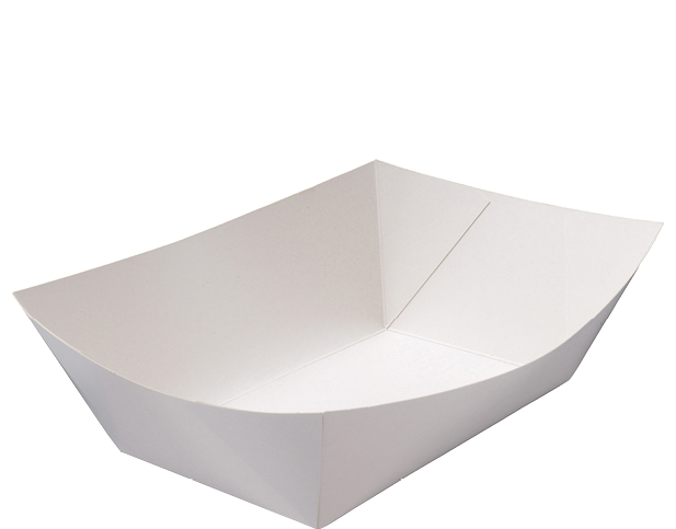 Rediserve White Paper Food Trays #5 Extra Large