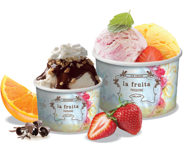 New Ice Cream & Gelato Cups (1 Scoop 4 oz) | Round Paper Containers  YB93
