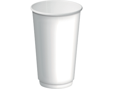Double Wall Insulcups® Takeaway Paper Coffee Cups (White 16oz)