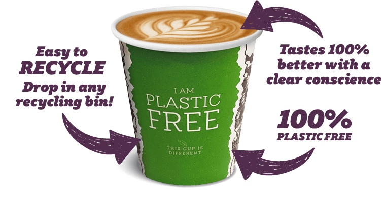 Plastic-free cup features