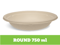 Enviroboard® Round Containers 750 ml