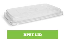 Enviroboard® Round Containers rPET Lid Rectangle