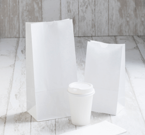 White Satchel Paper Bags