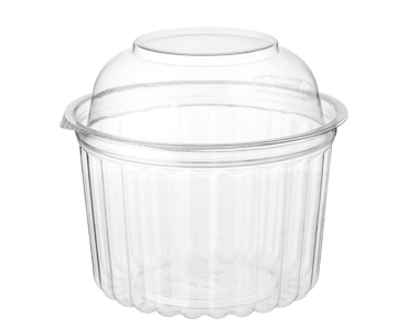 Clearview® Food Bowls with Dome Lid (455ml / 16oz)