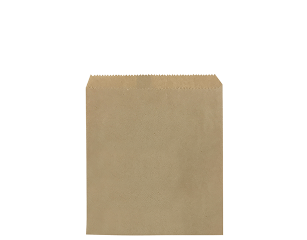 Flat Brown Paper Bags (Size #1 Square)