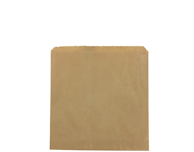 flat brown paper bags size 2 square castaway food packaging
