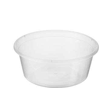 MicroReady® Round Takeaway Plastic Containers (Clear, 280ml / 10oz)