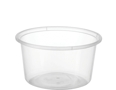 MicroReady® Round Takeaway Plastic Containers (Clear, 440ml / 16oz)