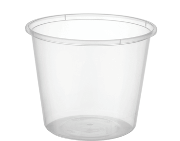 MicroReady® Round Takeaway Plastic Containers (Clear, 650ml / 25oz)