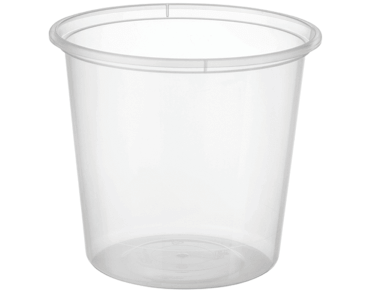 MicroReady® Round Takeaway Plastic Containers (Clear, 750ml / 30oz)