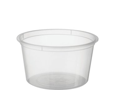 MicroReady® Small Round Takeaway Plastic Containers (120ml / 4oz)