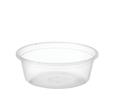 MicroReady® Round Takeaway Plastic Containers (Clear, 225ml / 8oz)