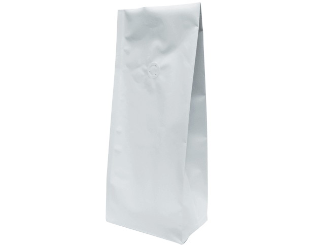 1kg Side Gusset Coffee Bag | K-Seal | Matte White