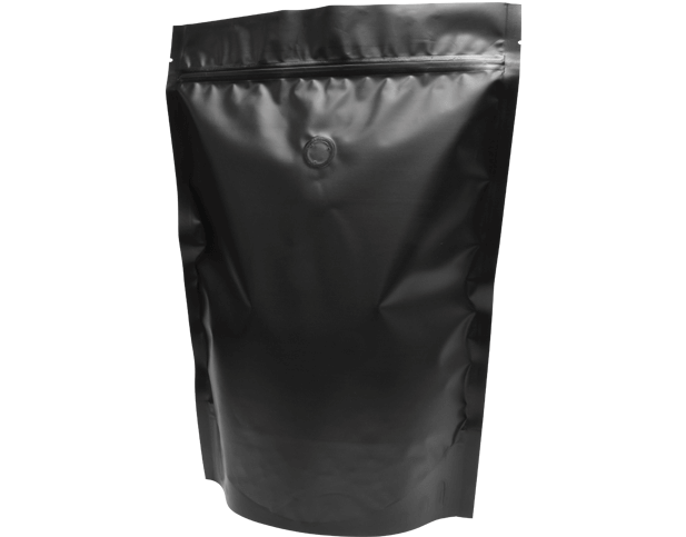 1kg Stand-Up Coffee Pouch (Matte Black)