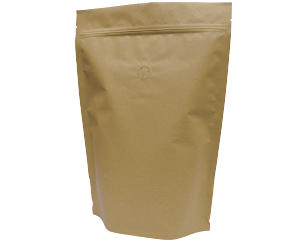 1kg Stand-Up Coffee Pouch (Brown Kraft)