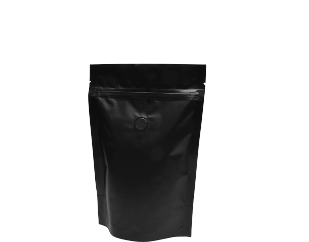 250g Stand-Up Coffee Pouch (Matte Black)