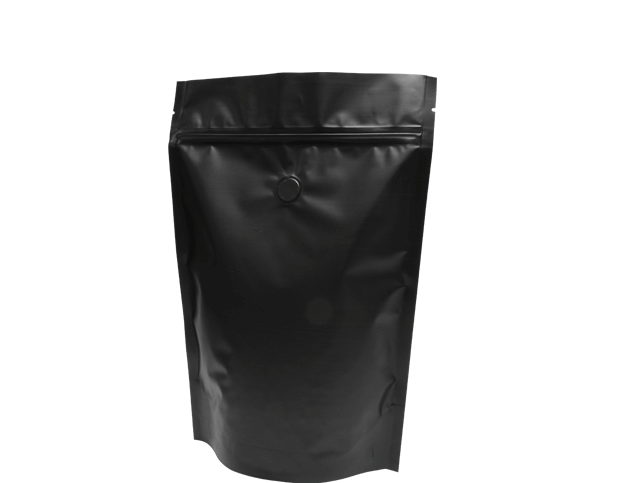 500g Stand-Up Coffee Pouch (Matte Black)