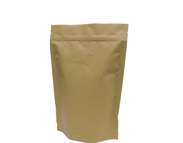 500g Stand-Up Coffee Pouch (Brown Kraft)
