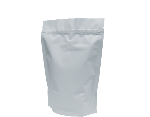 500g Stand-Up Coffee Pouch (Matte White)