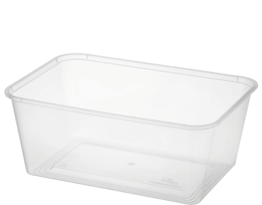 MicroReady® Rectangle Takeaway Plastic Containers (1000 ml)