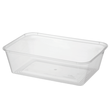 MicroReady® Rectangle Takeaway Plastic Containers (650 ml)