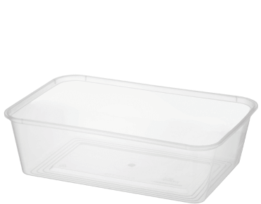 MicroReady® Rectangle Takeaway Plastic Containers (700 ml)
