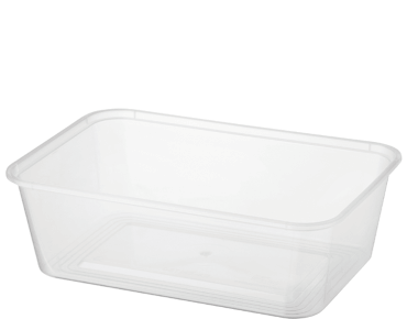 MicroReady® Rectangle Takeaway Plastic Containers (750 ml)