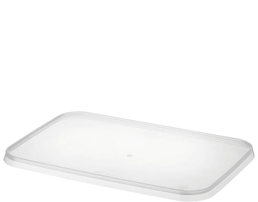 MicroReady® Rectangle Plastic Container Flat Lids