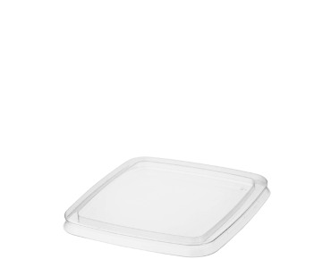 Reveal Clear Square Plastic Container Lids