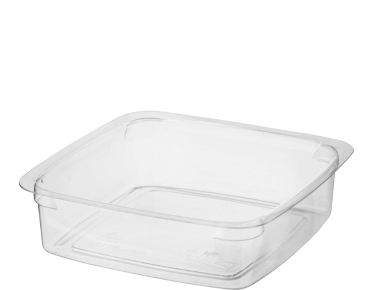 Reveal Clear Square Portion Control Plastic Containers (Small)