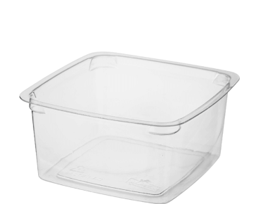 Reveal Clear Square Portion Control Plastic Containers (Medium)