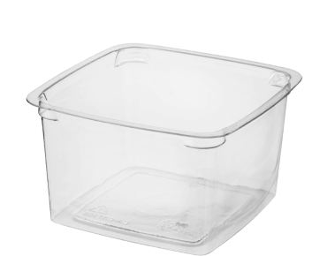 Reveal Clear Square Portion Control Plastic Containers (Large)