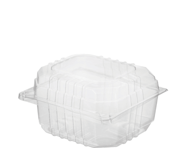 Clearview® Plastic Food Containers with Hinged Lid (Small Burger)
