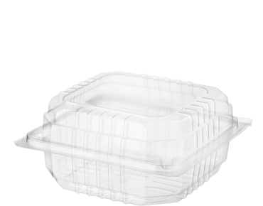 Clearview Plastic Food Containers With Hinged Lid Large Burger